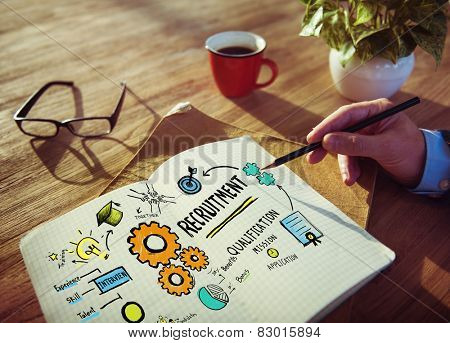 Businessman Planning Recruitment Qualification Working Concept