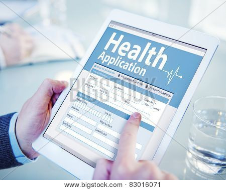 Digital Health Insurance Application Form Concept