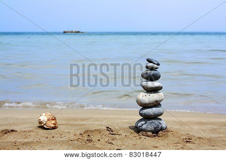Stack stone and shell