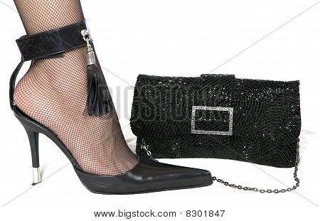 Ladies  shoe and  handbag
