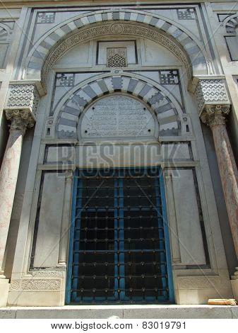 Facade of Arabic style in Tunisia