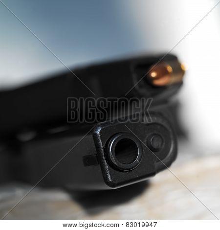 Barrel Of A Gun And Muzzle