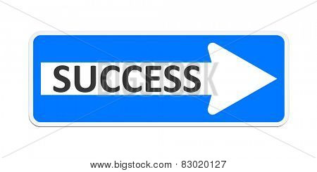 An image of a german one way sign with the word success