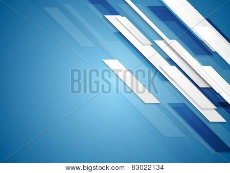 Blue shiny hi-tech motion background. Vector design
