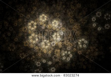 Abstract Geometric Flowers Fractal Texture. Visualization Of Complex Equations.