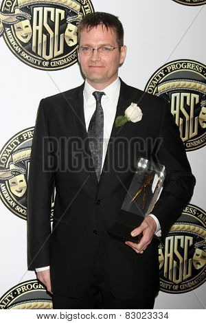LOS ANGELES - FEB 15:  Jonathan Freeman at the 2015 American Society of Cinematographers Awards at a Century Plaza Hotel on February 15, 2015 in Century City, CA
