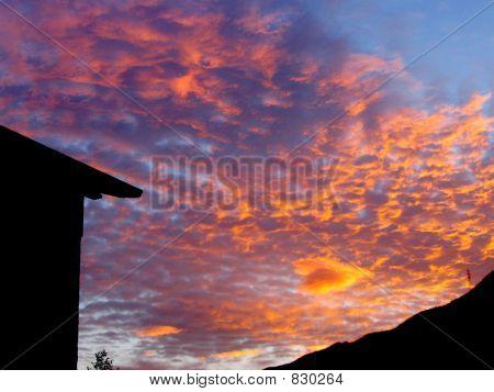 Italian Mountains Sunset