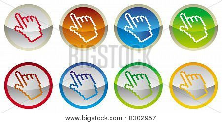 button with hand cursor