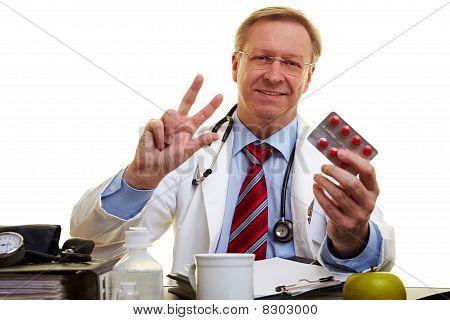 Doctor Explaining Medical Dosis