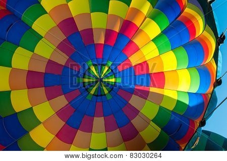 Inside Of A Hot Air Balloon With Lots Of Color