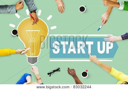 Start Up Ideas Plan Innovation Concept