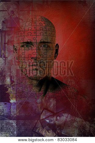 Puzzle man face