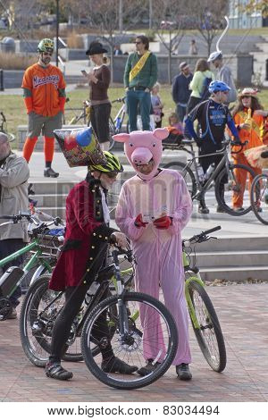 Costumed Bicyclists