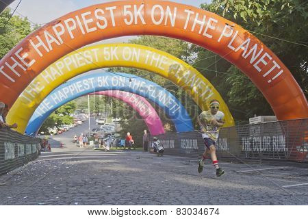 Colorful Young Runner