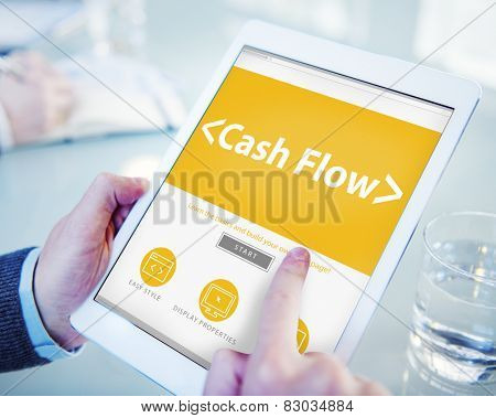 Cashflow Investing Banking Money Revenue Investment Concept