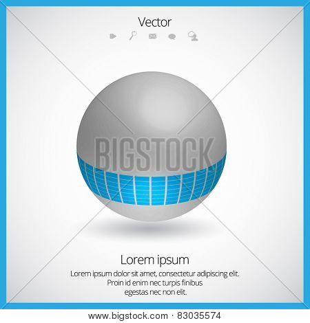 3D Spherical Logo Elements