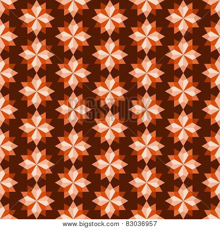 Orange Abstract Rhomboid Or Diamond Seamless Pattern