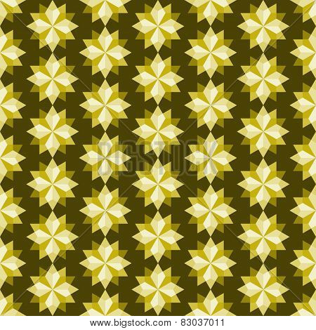 Yellow Abstract Rhomboid Or Diamond Seamless Pattern