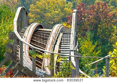 Roller Coaster in the woods