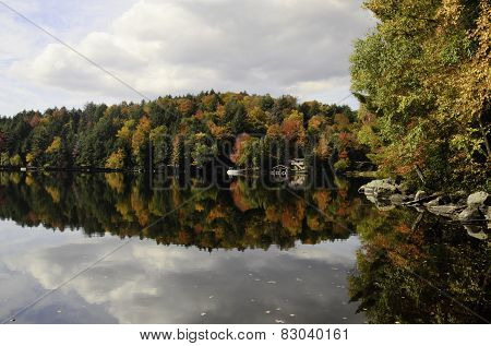 Autumn colored reflection