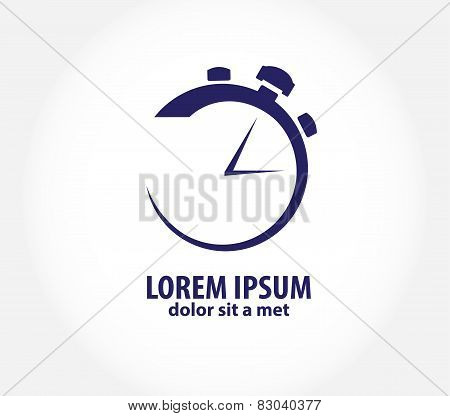 Vector clock, time company logo design, business symbol concept