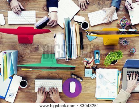 Group of Business People Working Meeting Team Concept