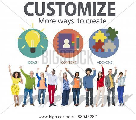 Customize Ideas Identity Individuality Innovation Personalize Concept