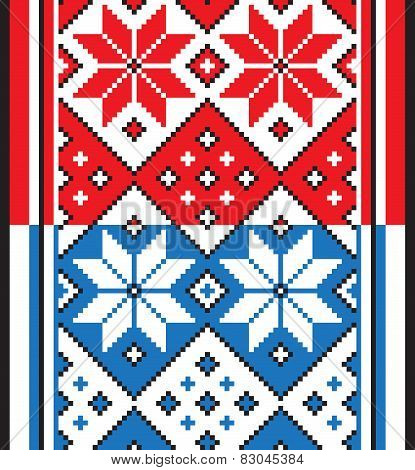 Belorussian Ethnic Ornament, Seamless Pattern. Vector Illustration
