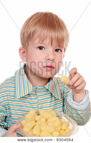3-year-old Kid Eating Cornflakes