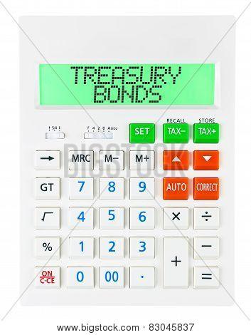 Calculator With Treasury Bonds