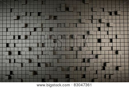Abstract 3D background of cubes