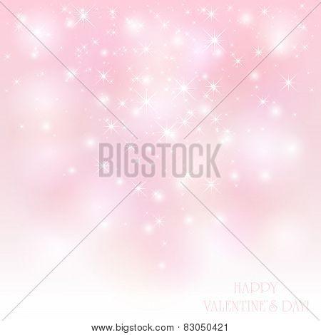 Starry Valentines Background