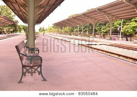 The chair for lonely station