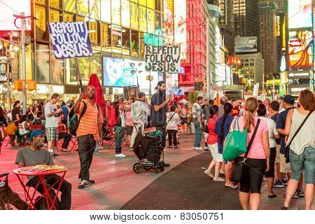 The Busy Streets Of Times Square