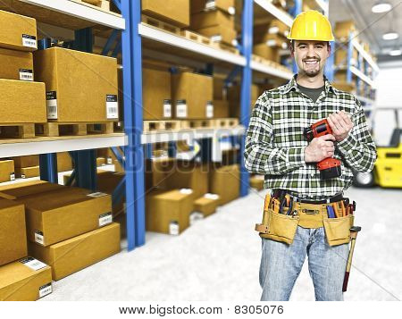 Handyman In Warehouse