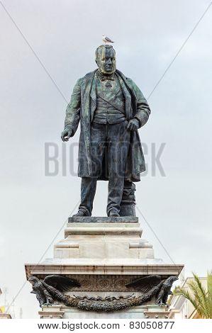 Camillo Benso di Cavour monument.