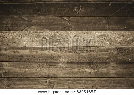 Old Wood Background in sepia