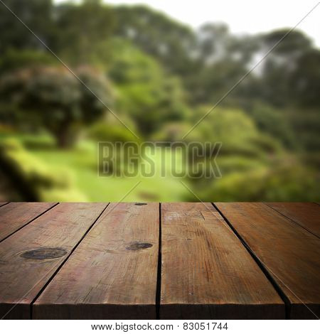 Wooden table template for product display