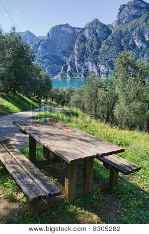 Picnic Table With Lake View