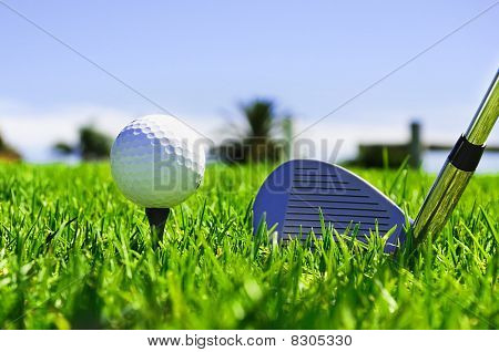 Ball And Golf Clubs
