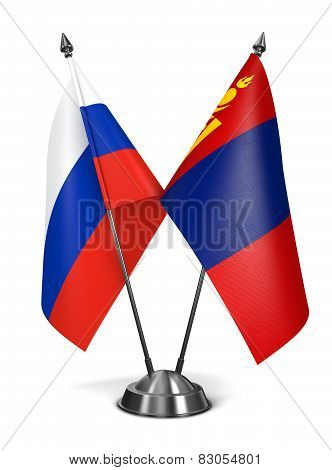 Russia and Mongolia - Miniature Flags.