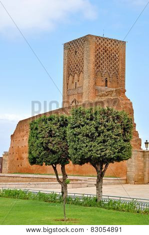 Tour Hassan Tower In Rabat, Morocco