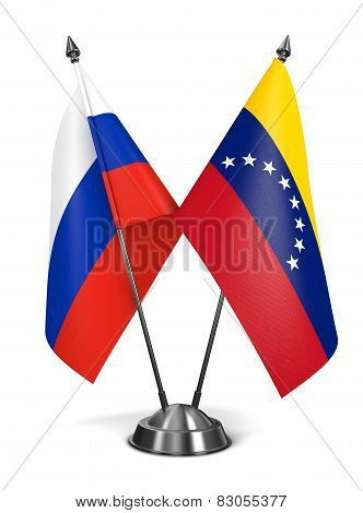 Russia and Venezuela - Miniature Flags.