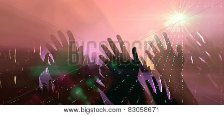 Audience Hands And Lights At Concert