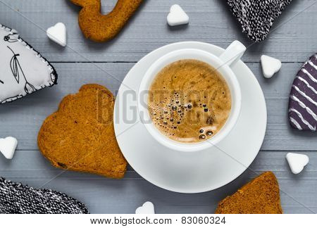 Valentine Cup Coffee Boards Sugar Cubes Cakes Heart
