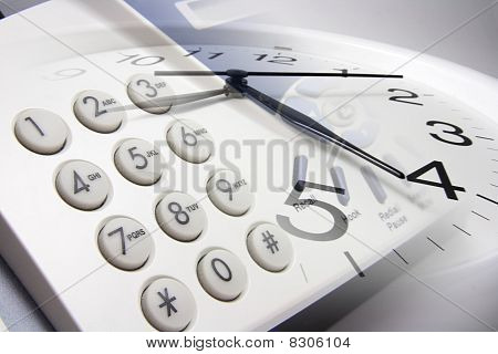 Fax Machine And Clock