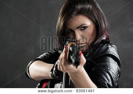 Sexy Girl Aiming