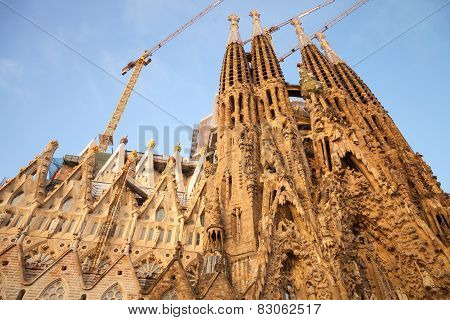 La Sagrada Familia, The Cathedral Designed By Antoni Gaudi