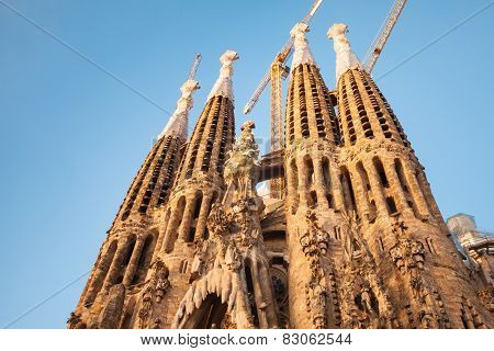Sagrada Familia, Cathedral Designed By Antonio Gaudi