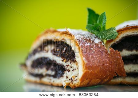Sweet Roll With Poppy Seeds